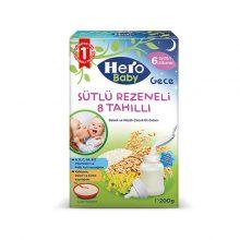 غذای کمکی هیرو بیبی با طعم ۸ غله و رازیانه همراه با شیر ترکیه ۲۰۰ گرمی