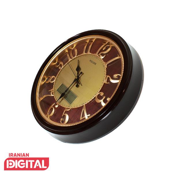 ساعت دیواری تقویم دار ولدر مدل 518