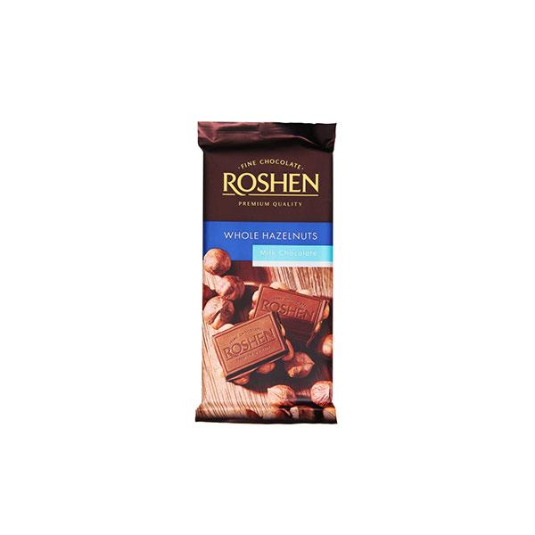 شکلات تخته ای مغزدار روشن مدل Milk Chocolate ترکیه