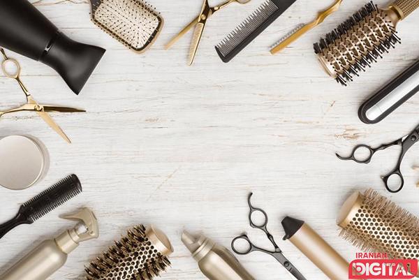 استفاده از ابزار و وسایل در مراقبت مو