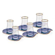 ست چای خوری شیشه ای ۱۲ پارچه نوا (Neva) مدل Gray