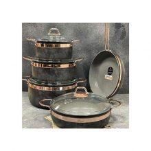 سرویس پخت و پز ۹ پارچه گرانیتی بریونی طرح سنگ